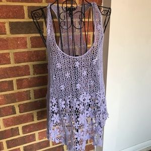 FANG Cover Up Racerback Tunic Top Size M